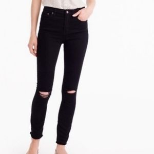 J.Crew lookout high rise skinny black jeans